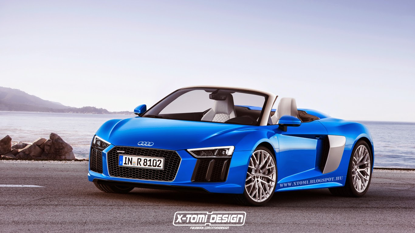 upcoming second gen audi r8 spyder imagined gtspirit. Black Bedroom Furniture Sets. Home Design Ideas