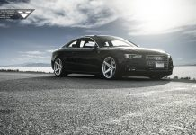 Audi S5 Shines on New Mercury Silver Vorsteiner Wheels