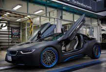 Thai BMW i8 Gets Custom Blue ADV.1 Wheels