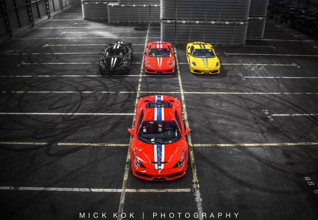 Photo of the Day: Ferrari 458 Speciale with 430 Scuderia Gang!