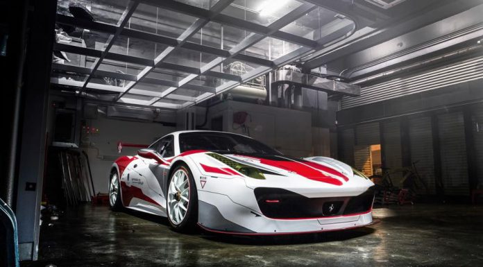 Custom Wrapped Ferrari 458 Challenge in Hong Kong