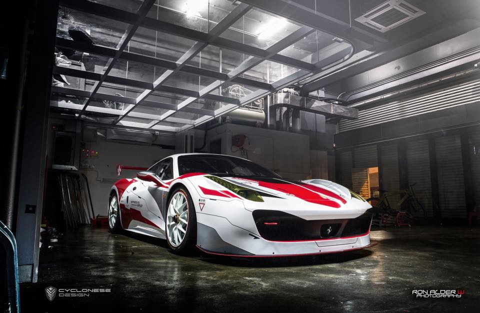 Custom Wrapped Ferrari 458 Challenge Evoluzione In Hong