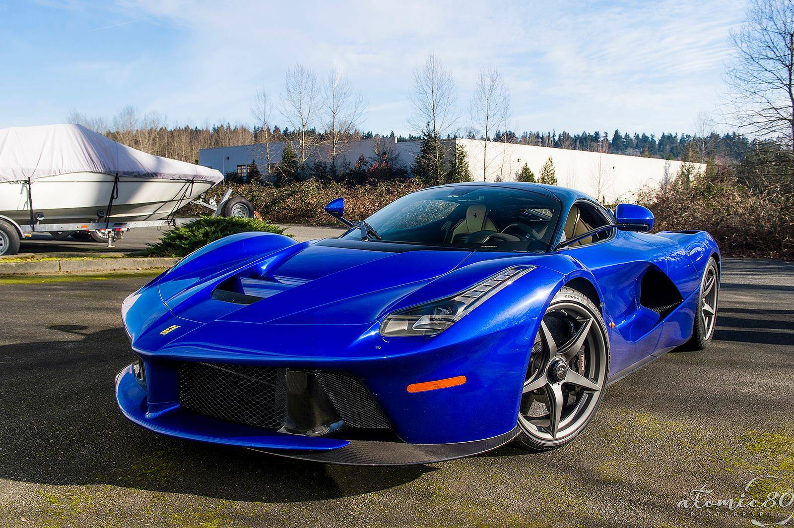 Laferrari Top View >> Stunning Blue Ferrari LaFerrari in Washington! - GTspirit