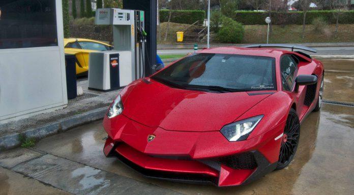 Two Lamborghini Aventador SV's Snapped in Spain