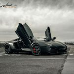 Matte Black Lamborghini Aventador Roadster by Shoreline Motoring