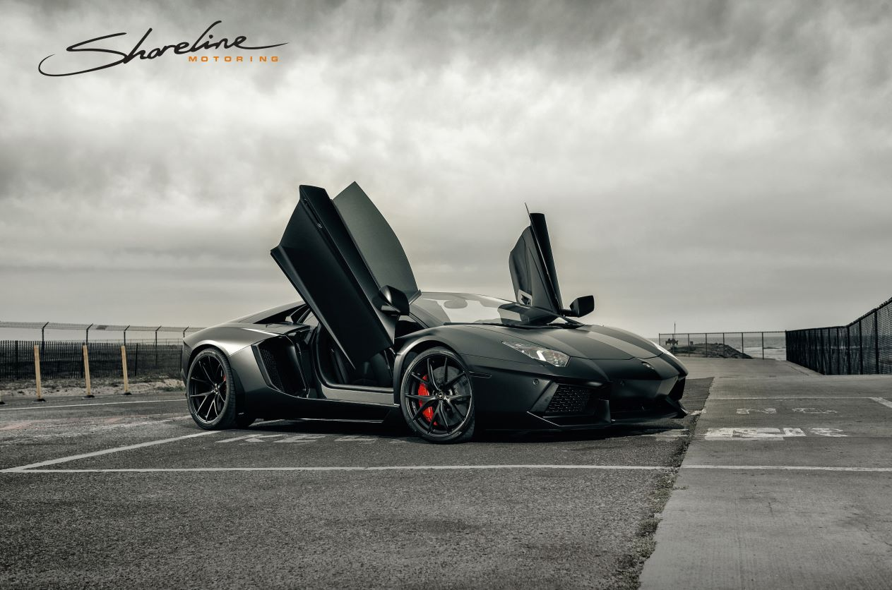 Matte Black Lamborghini Aventador Roadster By Shoreline Motoring