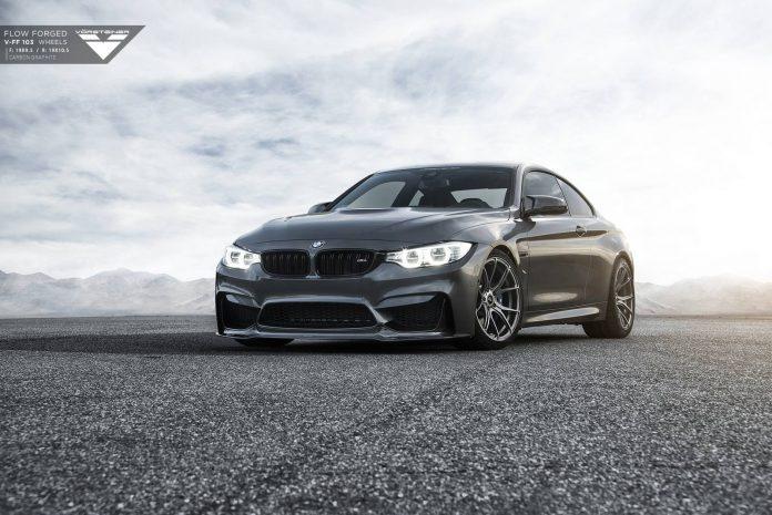 Mineral Grey BMW M4 with Carbon Graphite Vorsteiner Wheels