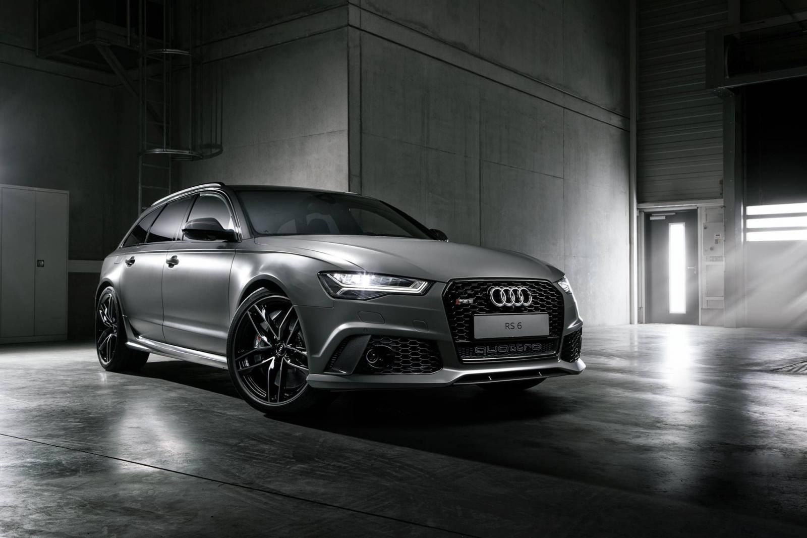 nardo grey matte audi rs6 avant by audi exclusive gtspirit. Black Bedroom Furniture Sets. Home Design Ideas