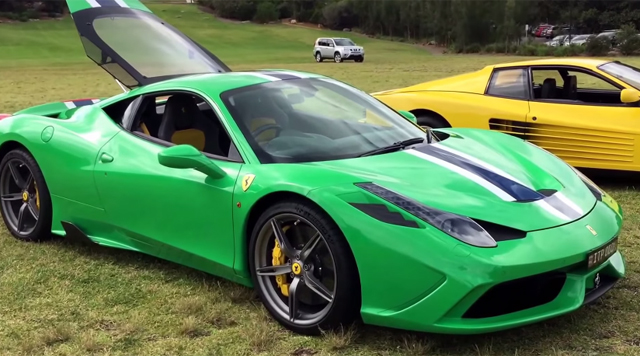Video Unique Kermit Green Ferrari 458 Speciale Gtspirit