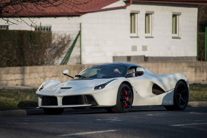 White LaFerrari with a € 250,000 Front Bumper!