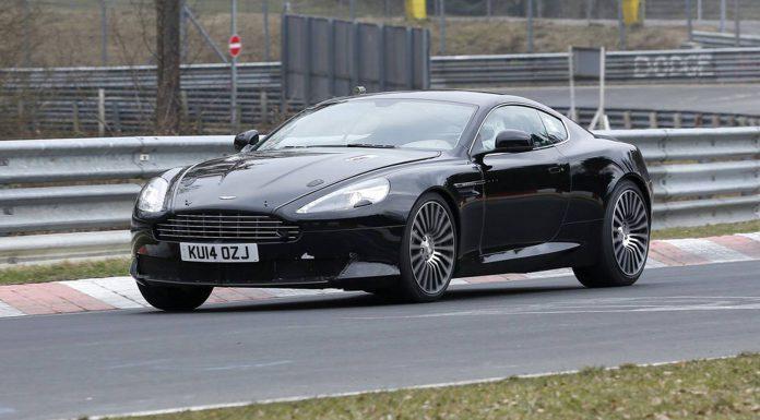Spy Shots of a 2017 Aston Martin DB9 Test Mule Emerge
