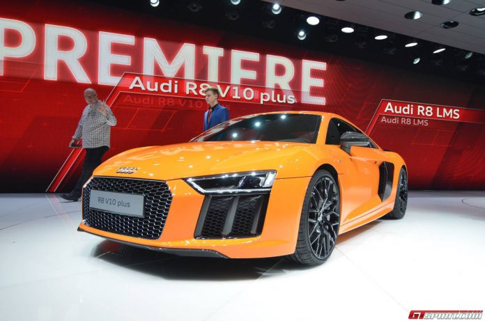 Audi R8 V10 at the Geneva Motor Show 2015