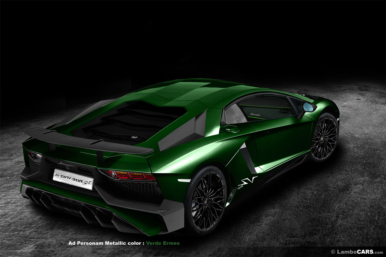 lamborghini aventador sv rendered in all 34 shades colours gtspirit. Black Bedroom Furniture Sets. Home Design Ideas