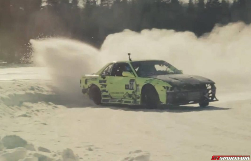 Canadian winter drifting action