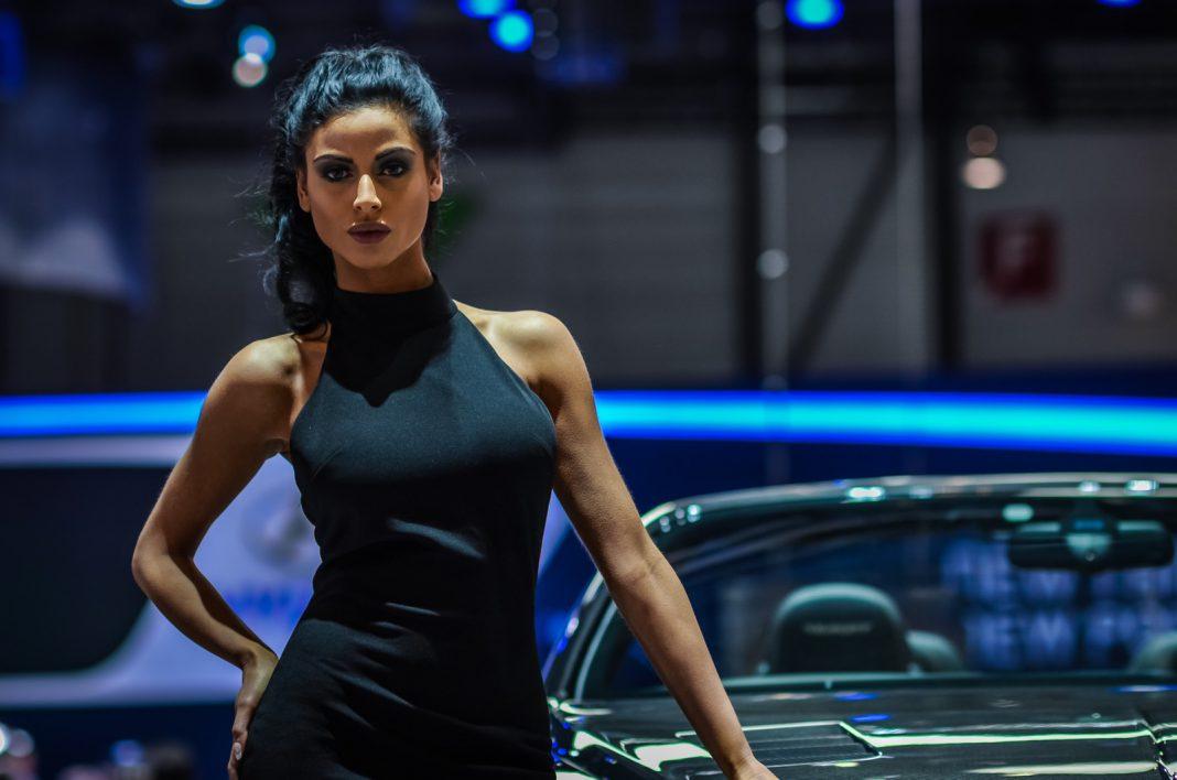Girls at the Geneva Motor Show 2015
