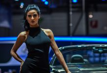 Girls at the Geneva Motor Show 2015
