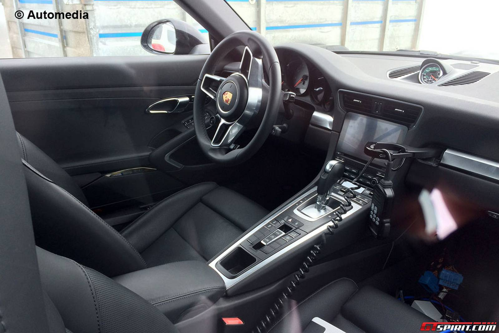 porsche 911 turbo 2015 interior. fresh porsche 911 turbo facelift spy shots reveal updated interior 2015