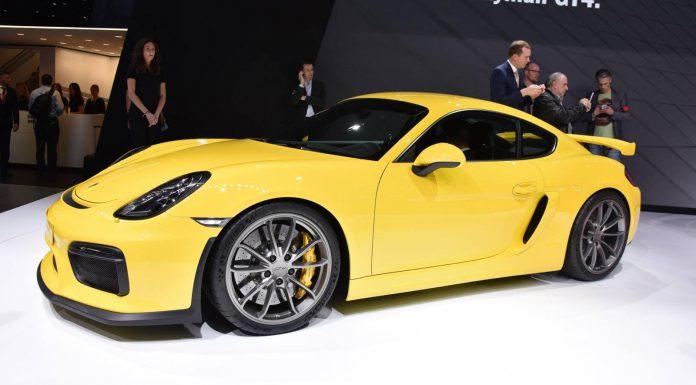 Porsche Cayman GT4 at the Geneva Motor Show 2015