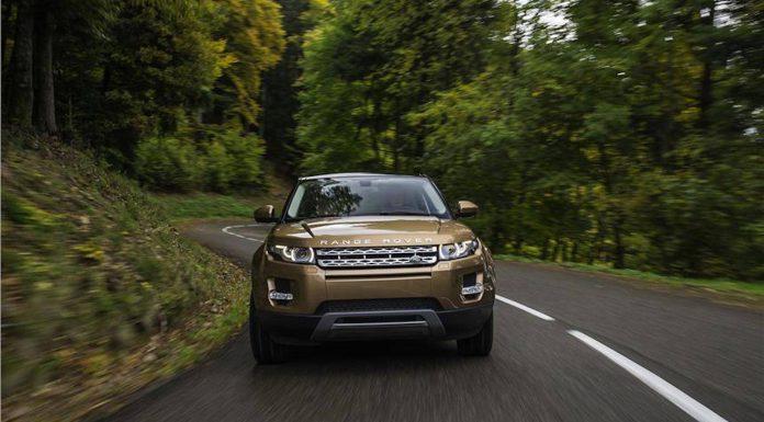range rover evoque front angle