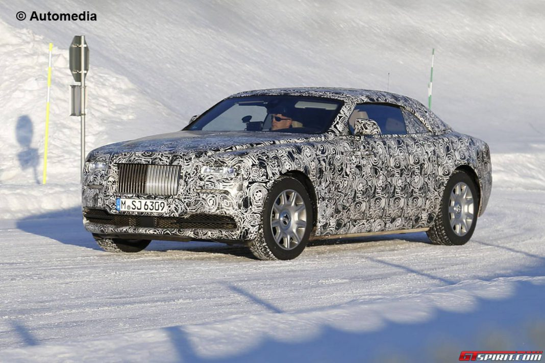 First Rolls-Royce Wraith Drophead Coupe Spy Shots Emerge