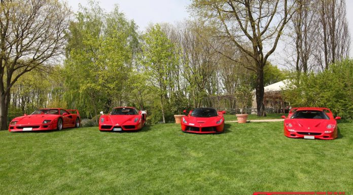 Ferrari quartet at 2015 Cars and Coffee Italy Gathers World's Best Supercars!