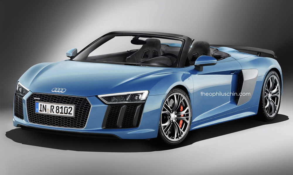 2016 Audi R8 V10 Plus Spyder Rendered Gtspirit