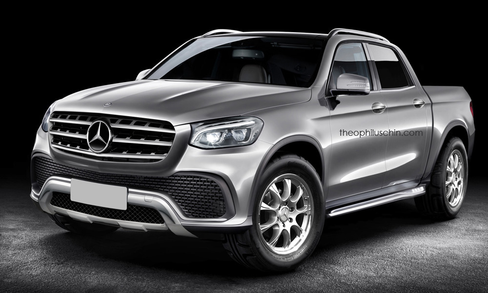 Mercedes benz pickup gets rendered gtspirit for Mercedes benz pickup truck