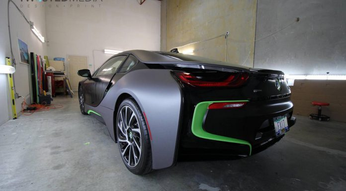 BMW i8 wrapping process