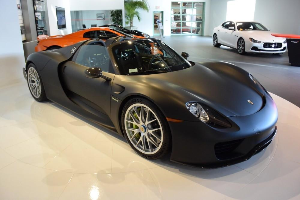 Stealthy Matte Black Porsche 918 Spyder Weissach For Sale  GTspirit