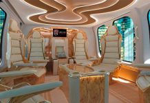 One-of-a-Kind Interior in the New Bell 525 Relentless Helicopter!