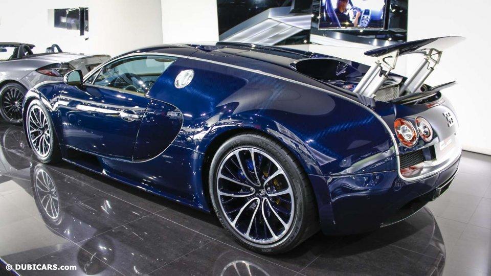 Unique Blue Carbon Bugatti Veyron Super Sport Sold in ...