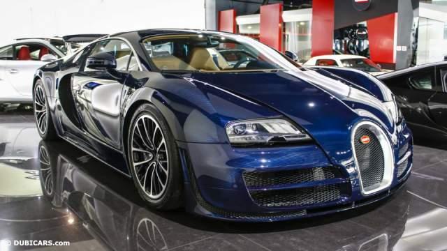 Unique Blue Carbon Bugatti Veyron Super Sport Sold in Dubai