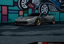 Widebody Liberty Walk Ferrari 458 Italia with ADV.1 Wheels