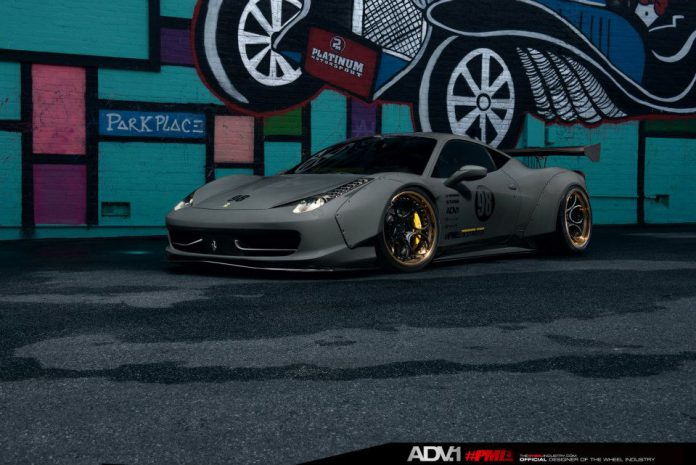 Widebody Liberty Walk Ferrari 458 Italia with ADV.1 Wheels