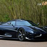 Blue Carbon Koenigsegg One:1 front right view