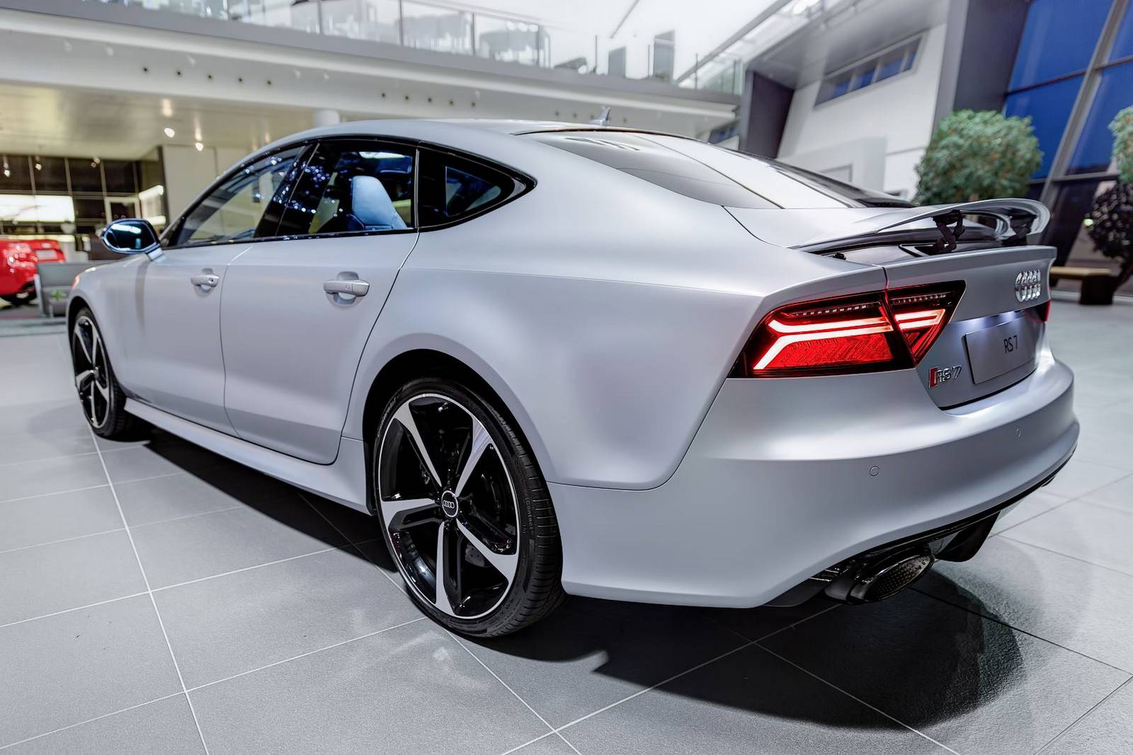 Matte Silver Audi Rs7 Sportback By Audi Exclusive Gtspirit