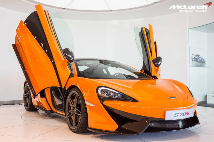 McLaren 570S doors up