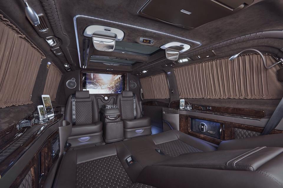 mercedes benz viano fitted with luxurious custom interior