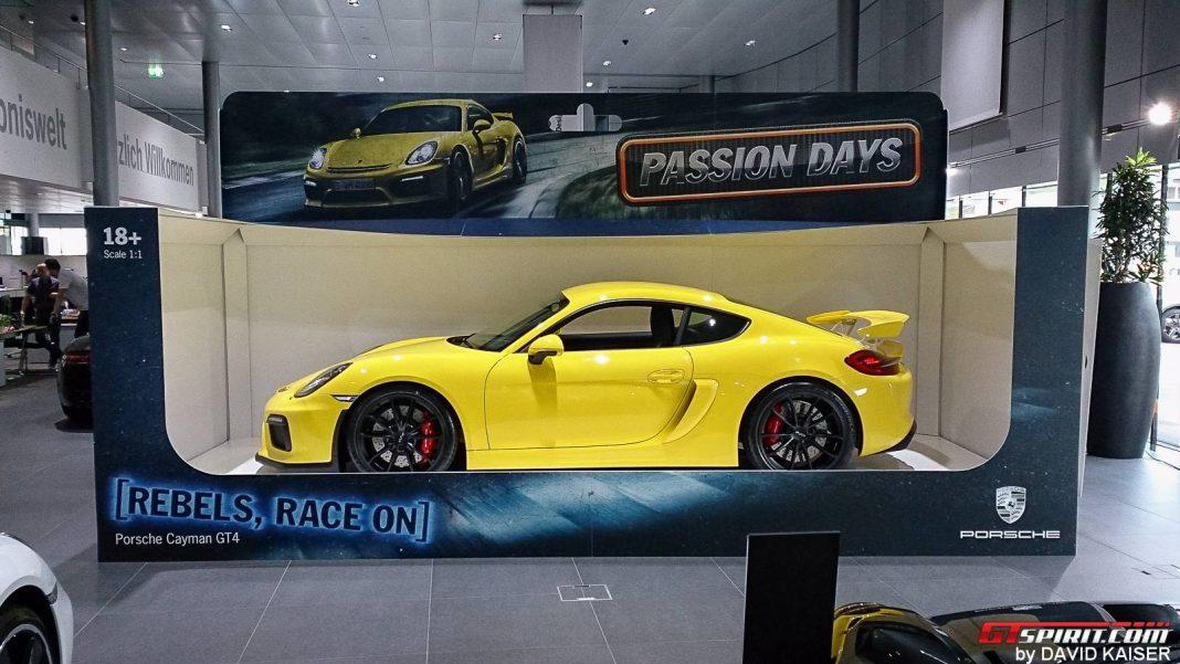 Porsche Presents Cayman GT4 as Full Sized Toy Car