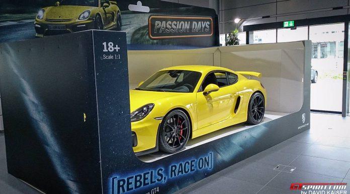 Yellow Porsche Cayman GT4 Toy Car
