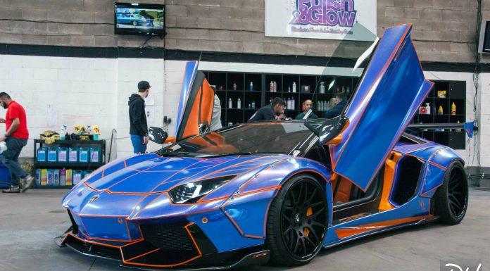 Liberty Walk Lamborghini Aventador  Tron doors up