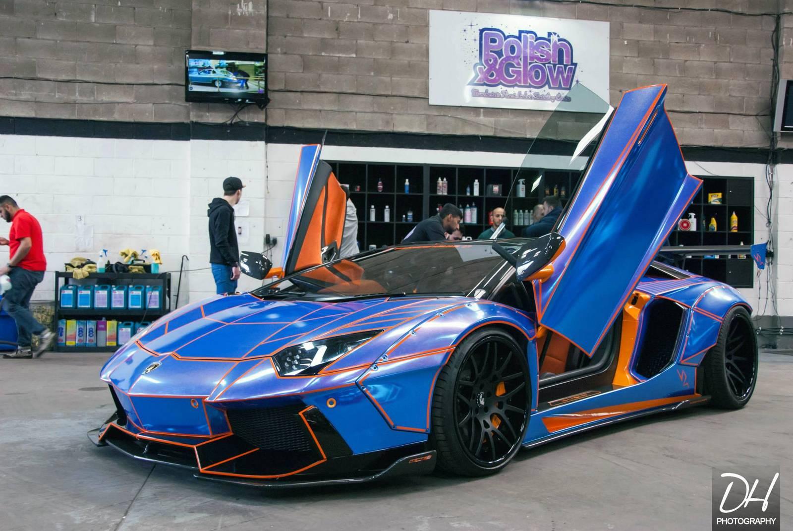 900bhp Tron Lamborghini Aventador With Liberty Walk Kit Gtspirit