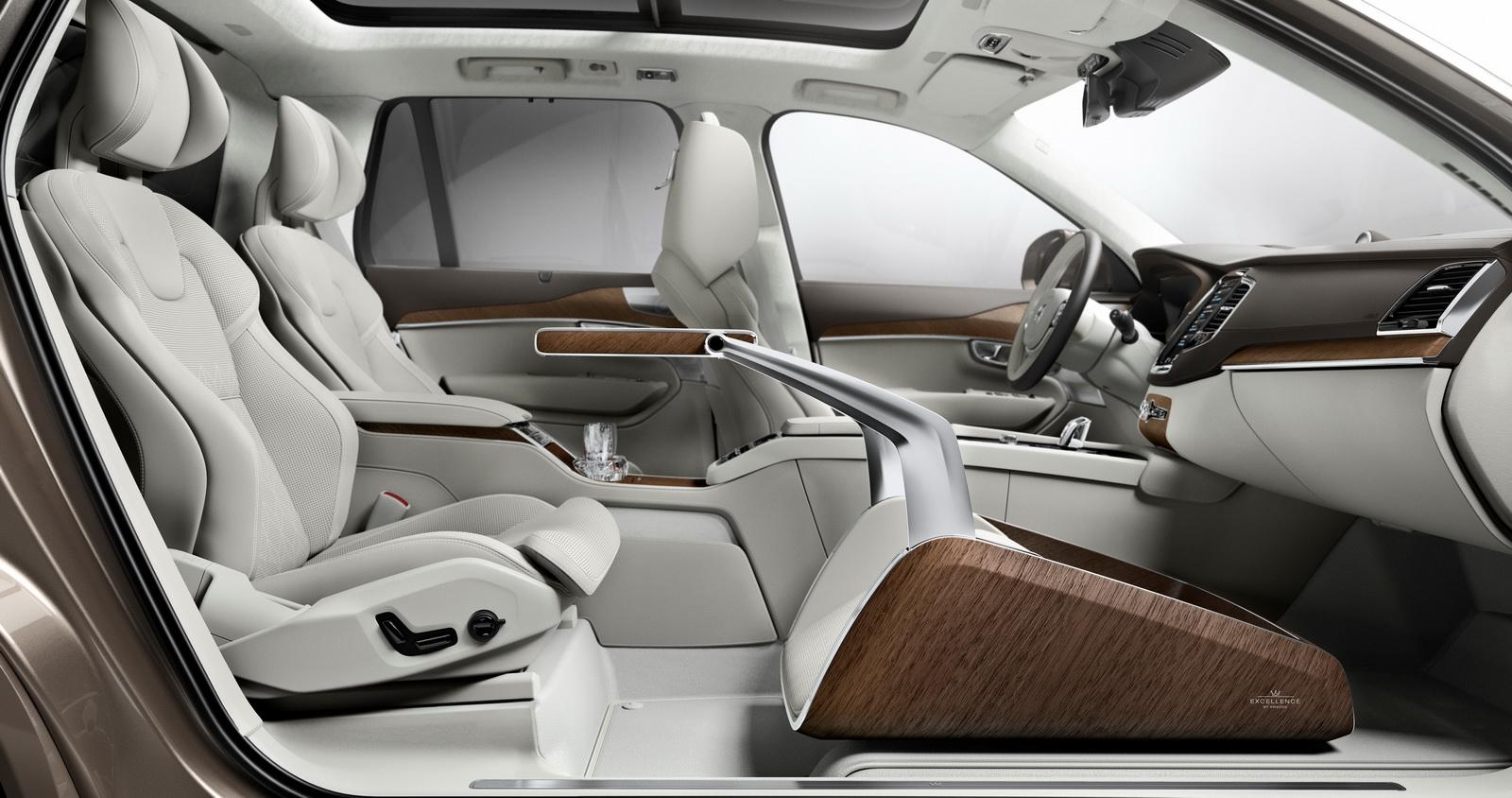 official volvo xc90 lounge console interior concept gtspirit. Black Bedroom Furniture Sets. Home Design Ideas