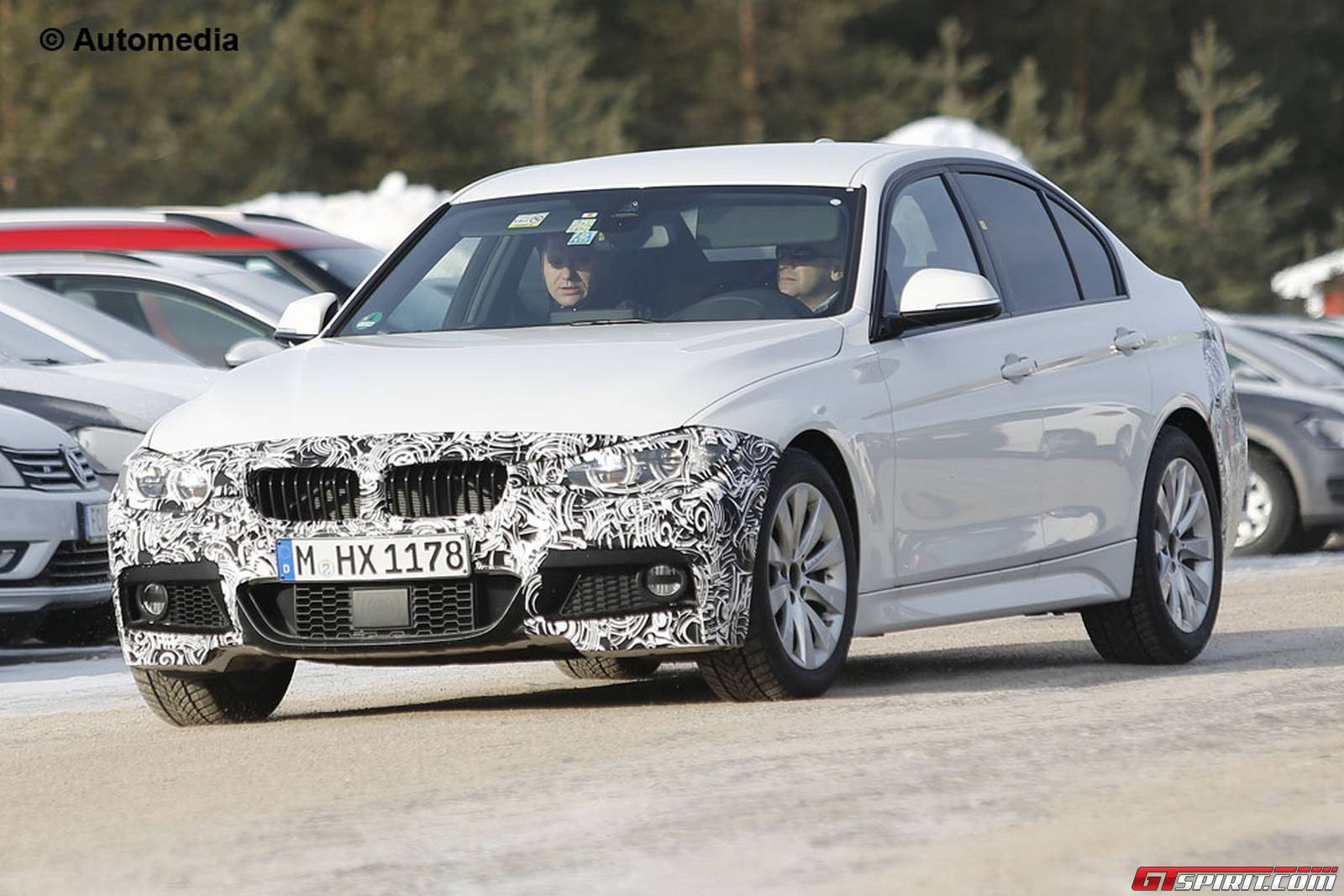 bmw 3 series m sport package facelift spy shots gtspirit. Black Bedroom Furniture Sets. Home Design Ideas