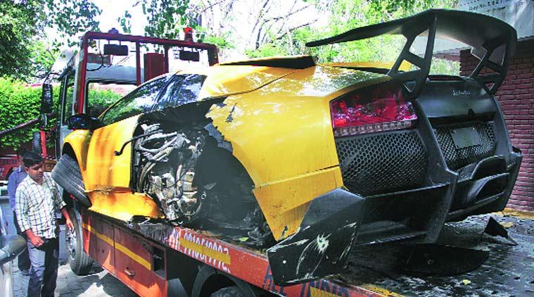 Lamborghini Murcielago LP670-4 SV Wrecked in Indian Hit ...