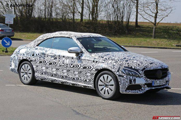New Mercedes-Benz C-Class Cabrio Spy Shots with Less Camo