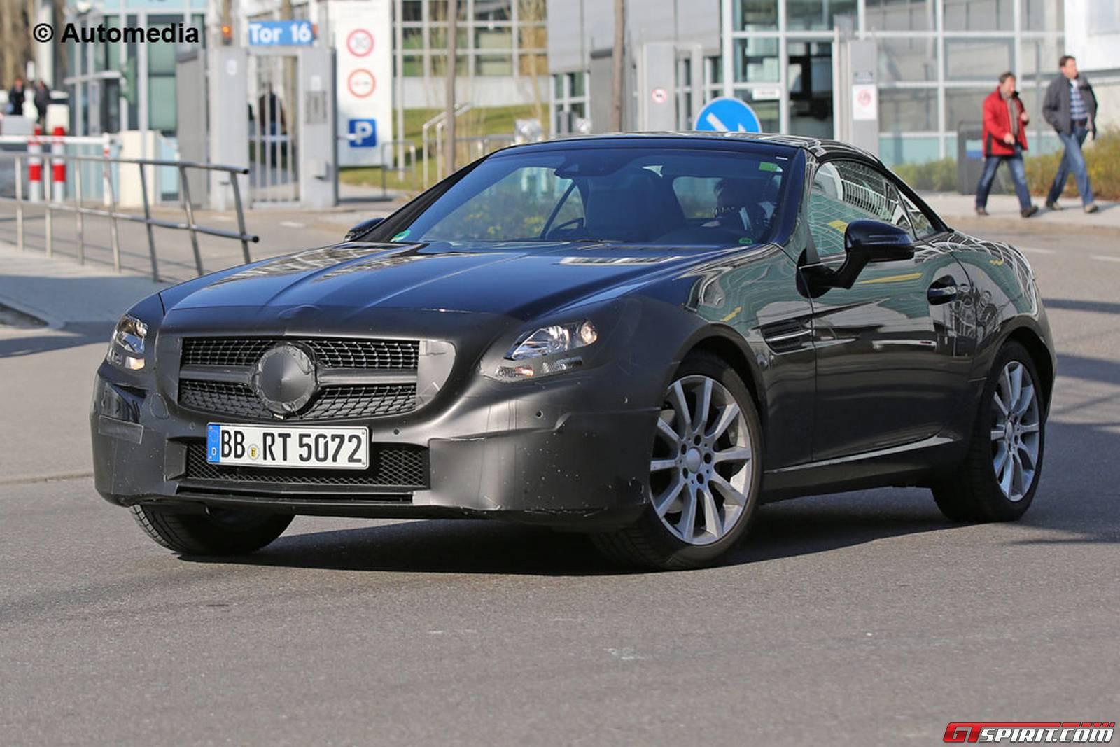 Mercedes Benz Slc Spy Shots Emerge Again Gtspirit