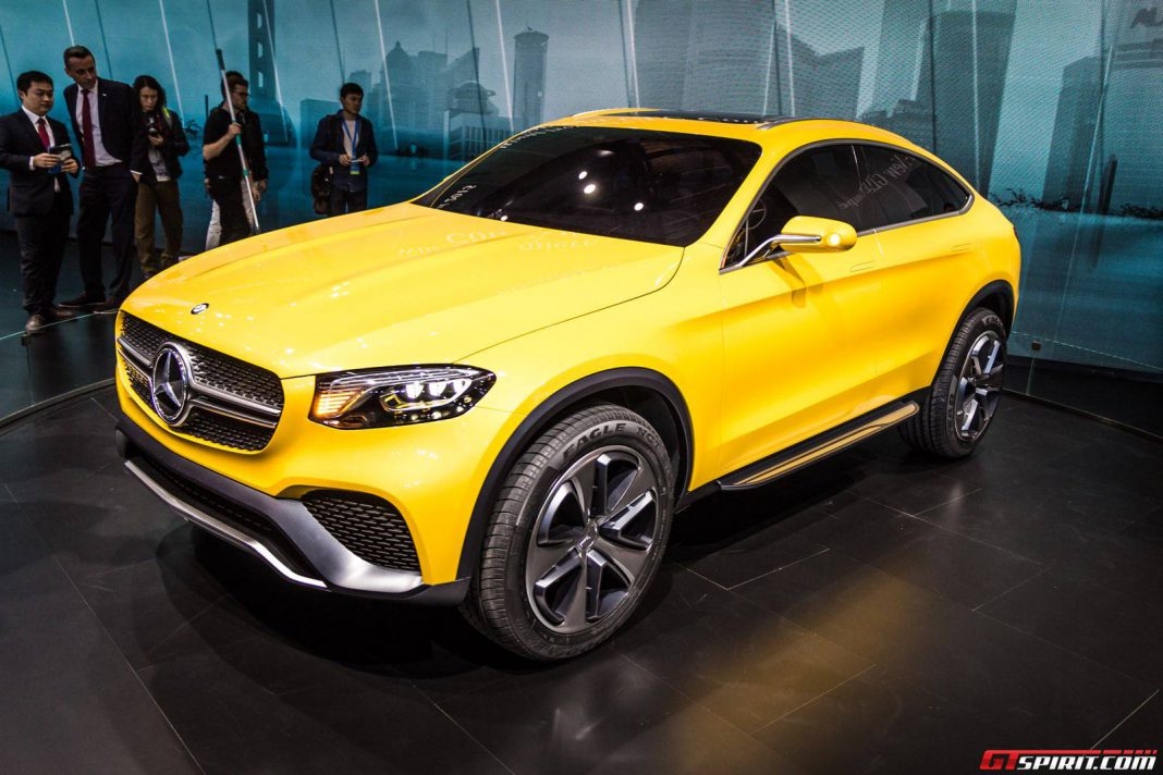 Mercedes-Benz GLC Coupe Concept at the Shanghai Motor Show 2015