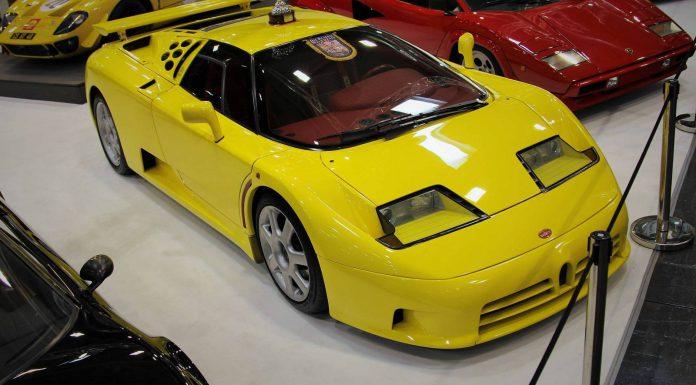Yellow Bugatti EB110 Techno Classica