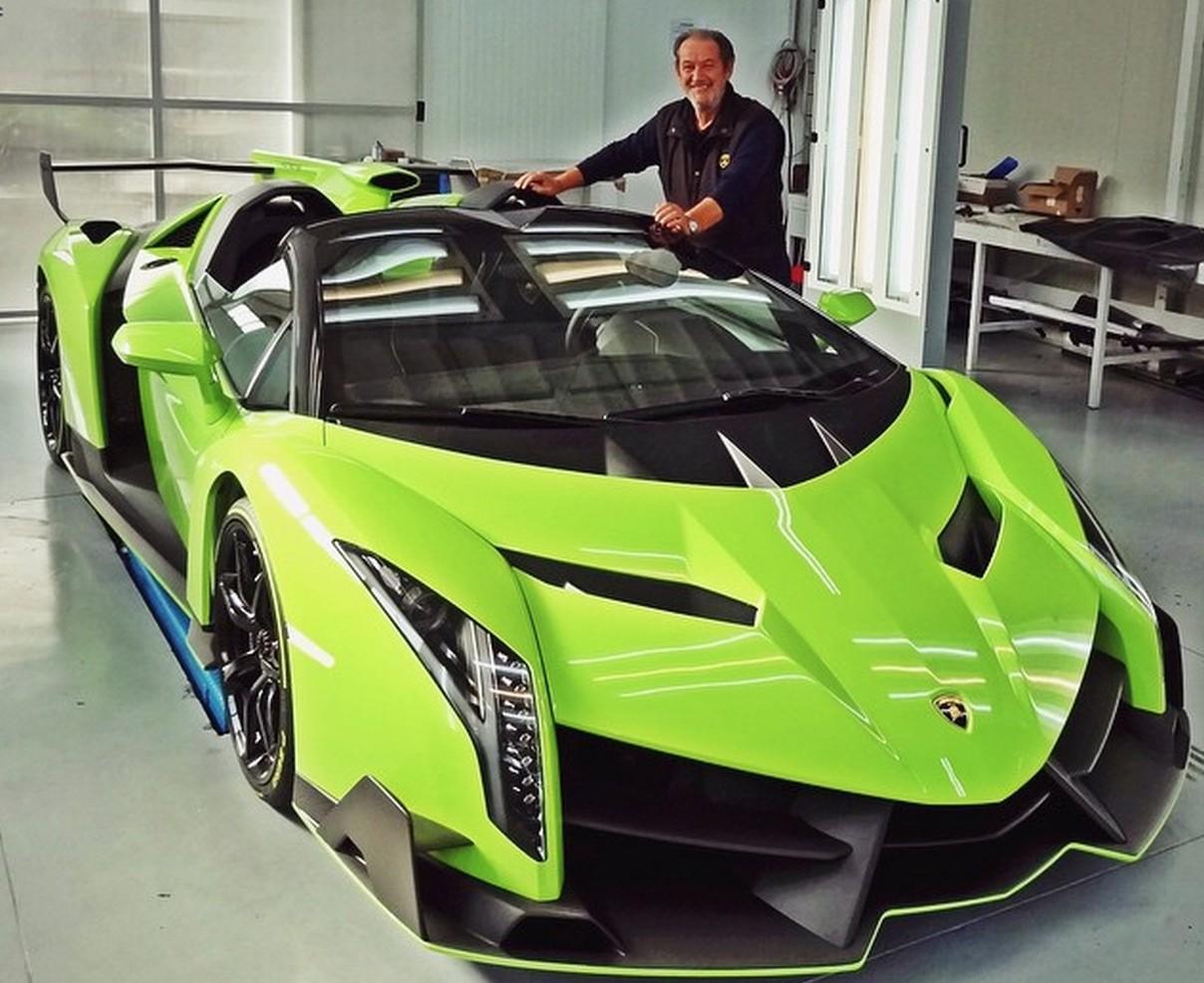 Valentino Balboni Poses With Verde Singh Lamborghini Veneno Roadster Gtspirit